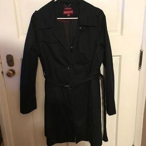 Women's Black Trenchcoat